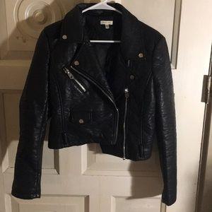 Faux Leather Jacket Silence snd Noise UO